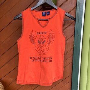 2007 eagle embroidered Sturgis tank top